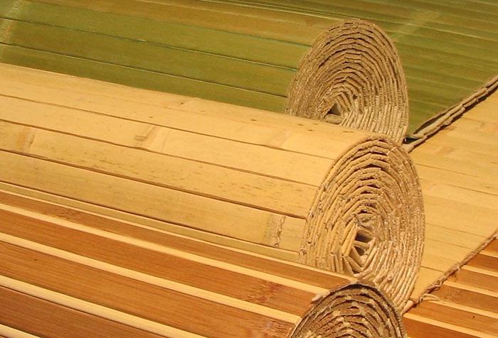Разновидности обоев из бамбука