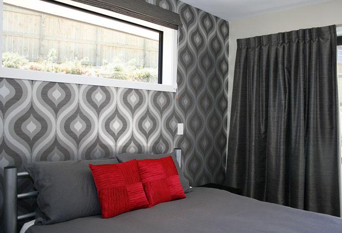 Обои серого цвета для спальни