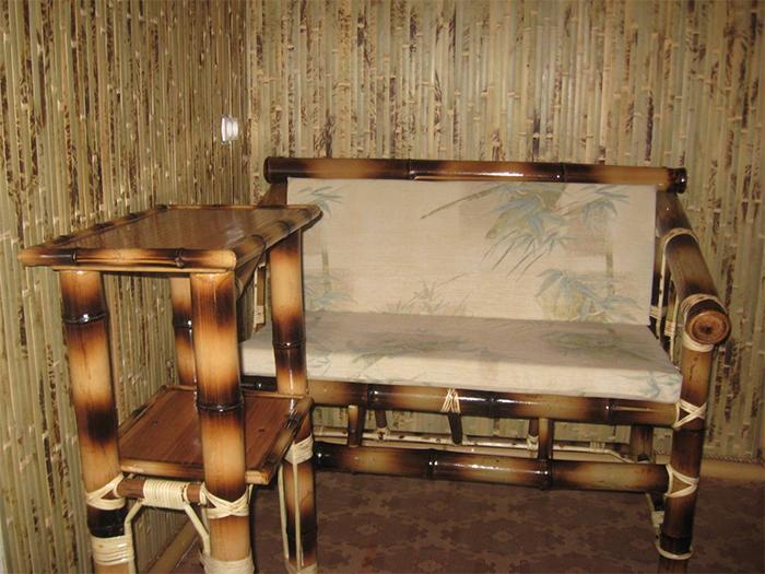 Обои и мебель бамбуковая