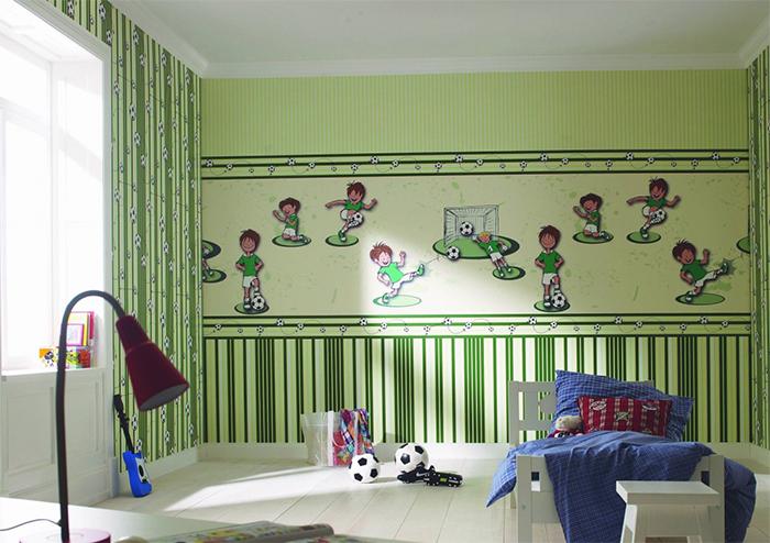 Вариант расположения бордюров в детской комнате