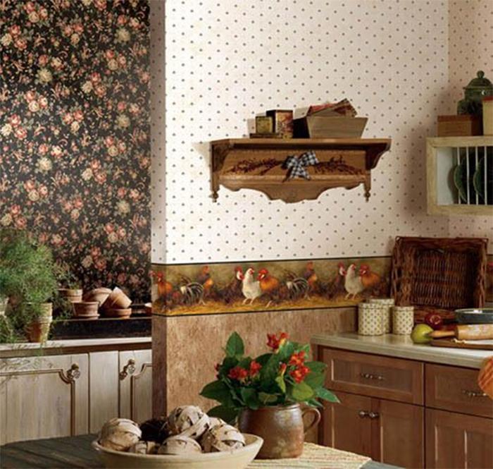 Декоративный бордюр в кухне