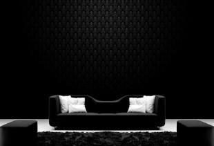 Применение стильных черных обоев в интерьере
