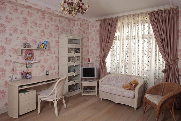 Нежные тона в детской комнате в прованском стиле