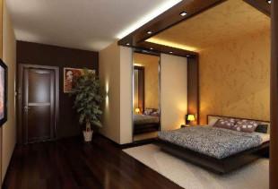 Правила комбинирования обоев в спальне
