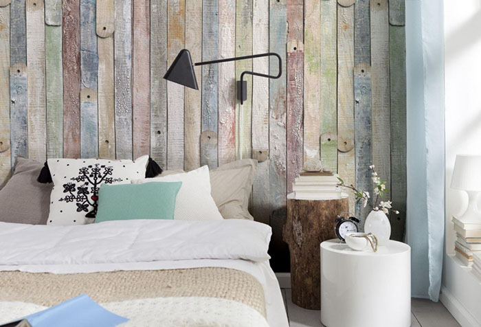 Фотообои с имитацией старых деревянных досок