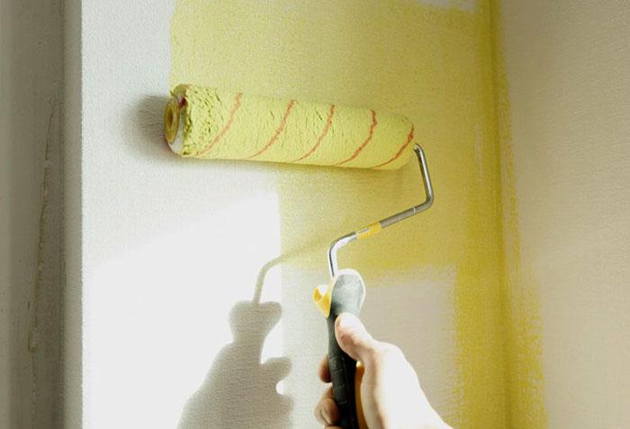 Окрашивание обоев в желтый цвет