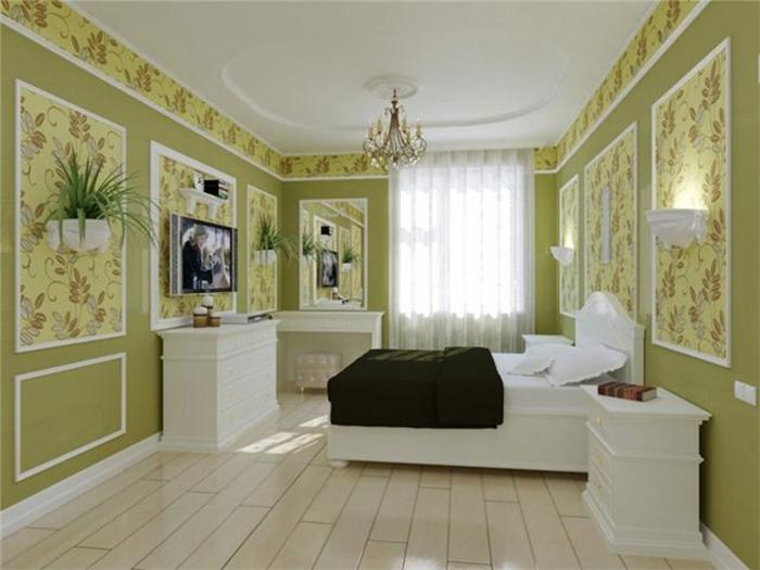 Потолочный бордюр в спальне