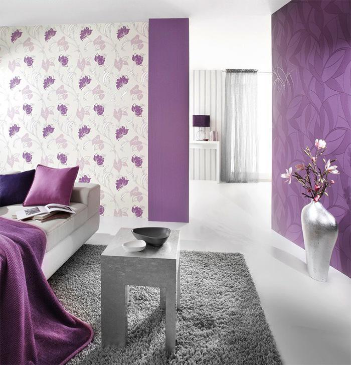 Сочетание цветов обоев в гостиной