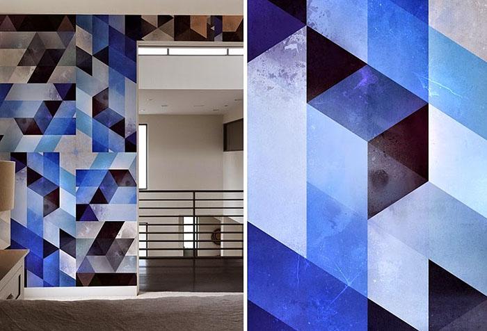 Необычные обои с геометрическими элементами