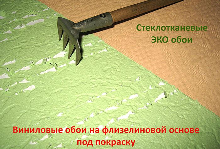 Сравнение устойчивости к повреждениям виниловых и стеклотканевых обоев