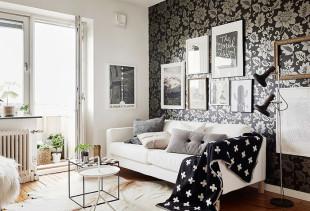 Как оформить интерьер квартиры с помощью темных обоев?