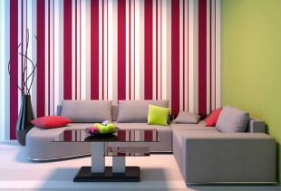 В какую комнату квартиры подходят яркие обои?