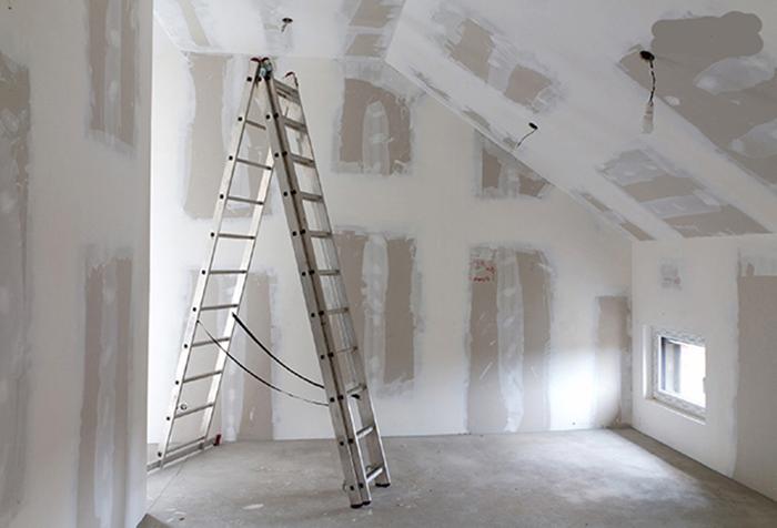 Подготовка стен из гипсокартона