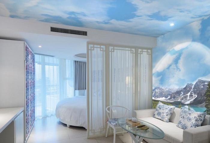 текстильные обои с изображением неба
