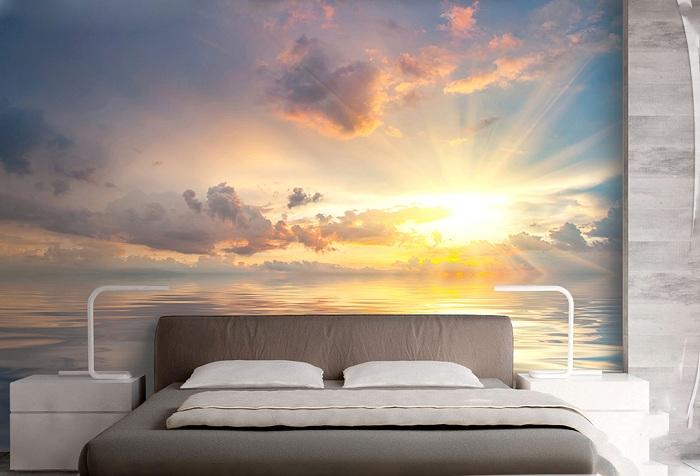 обои с изображением заката солнца