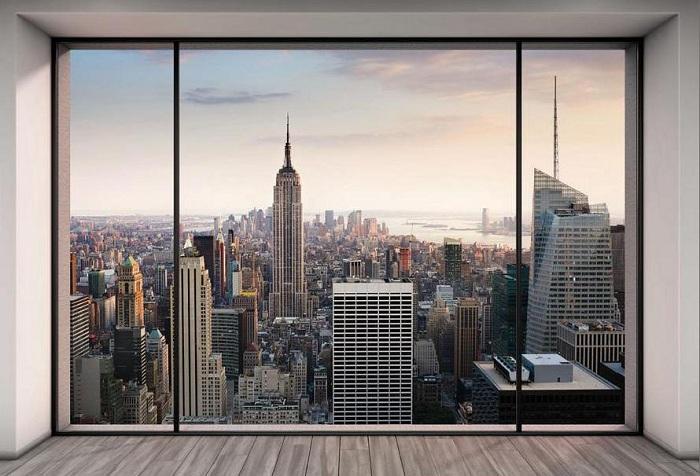 обои с изображением окна в New York