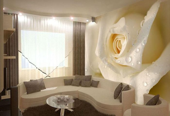кремовые нежные кремовые 3d розы обои