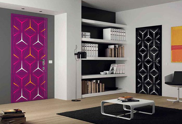 Двери с поп-арт узором