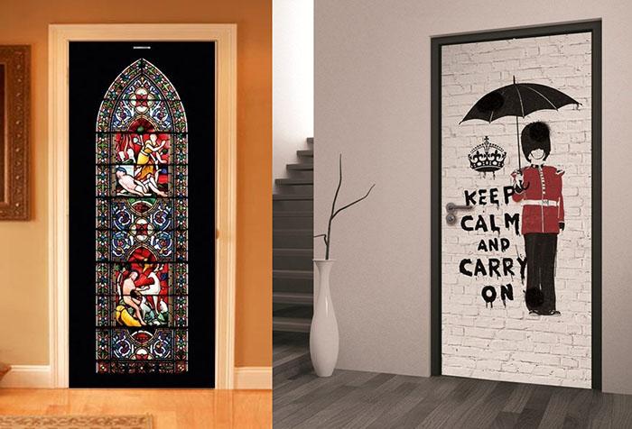 Самоклеющаяся пленка на дверь