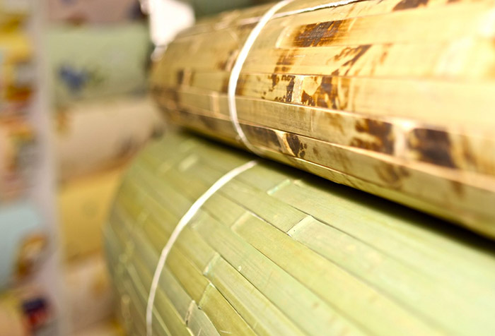 Рулоны бамбуковых обоев