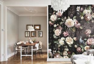 Как подобрать обои с розами для вашего стиля в интерьере?