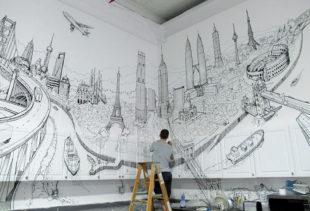 Секреты создания удачного декора стен с помощью акриловой росписи