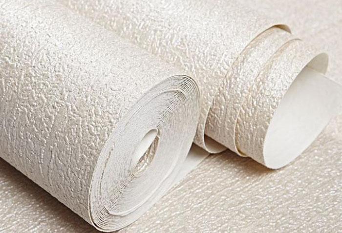 Однотонные бумажные обои с тиснением
