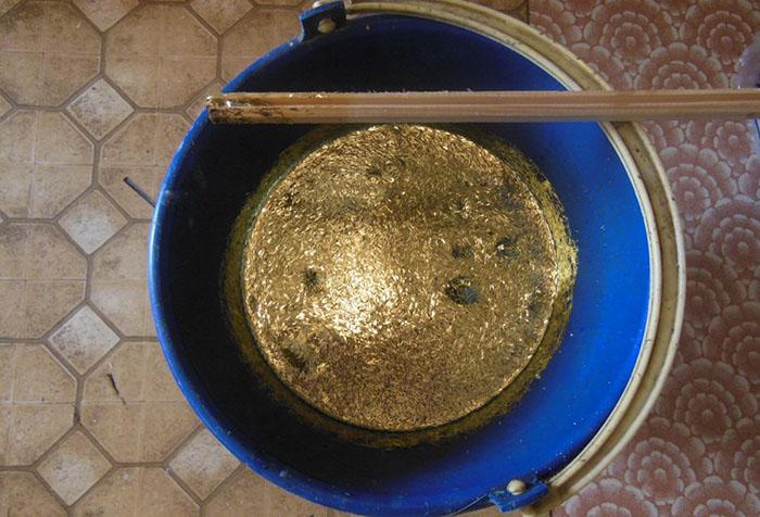 Подготовка смеси для жидких обоев