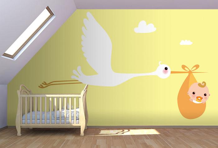 Обои в комнату малыша