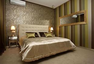 Интерьер спальни и обои: виды, возможности оформления и цвет
