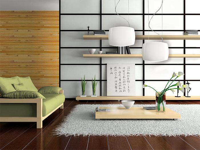 Светлые бамбуковые обои