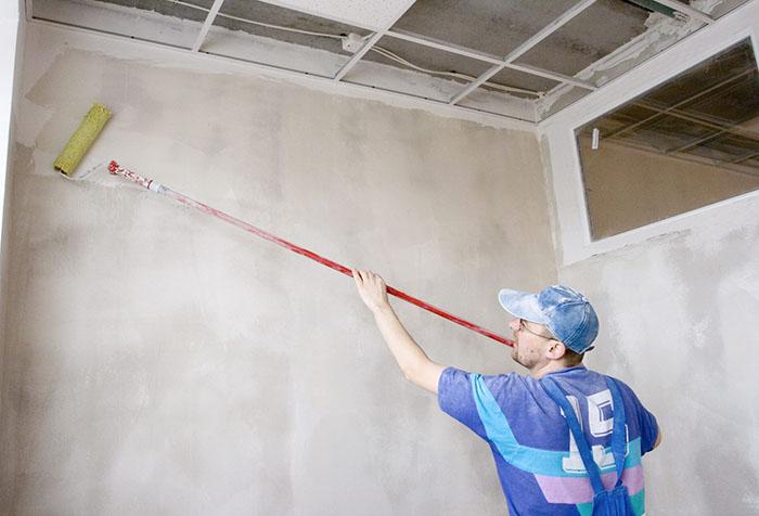 Подготовка стены под жидкие обои