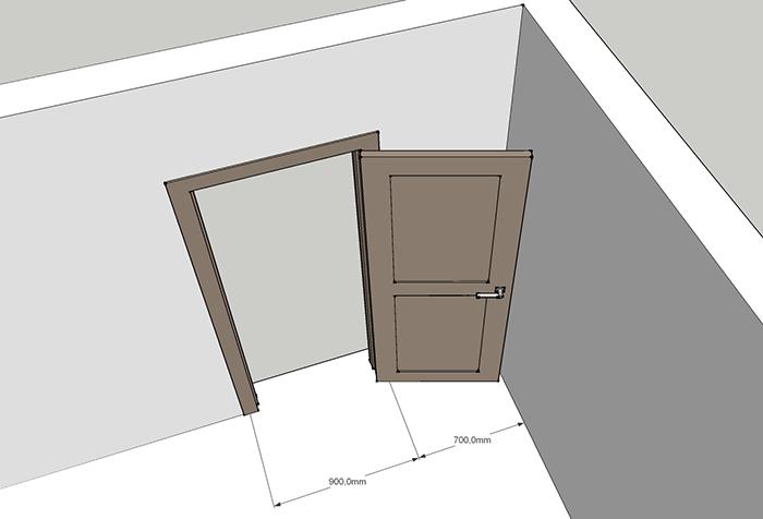 Измерение дверного проема для расчета количества обоев