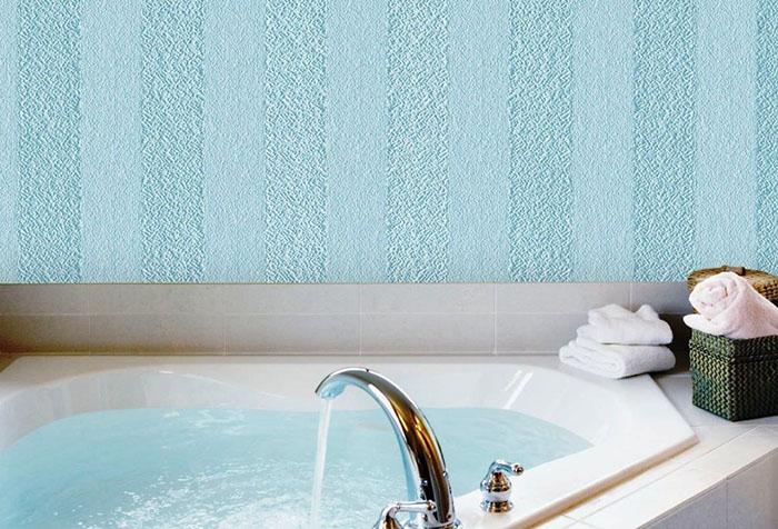 Виниловые обои под покраску в ванной