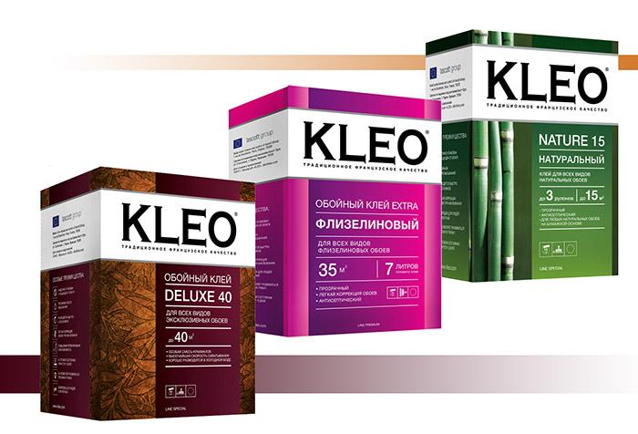 Разновидности обойного клея KLEO