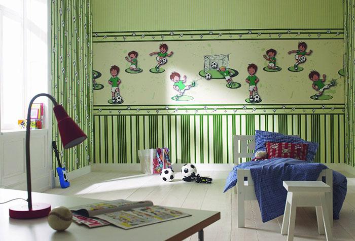 Горизонтальное зонирование детской