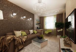 Особенности отделки стен коричневыми обоями