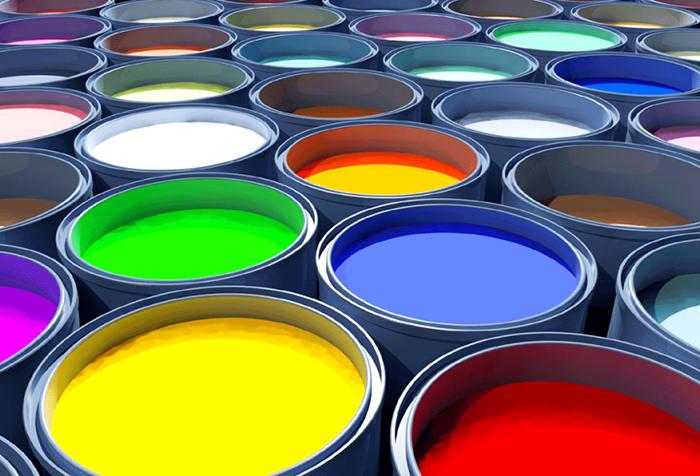 Банки с разноцветной краской