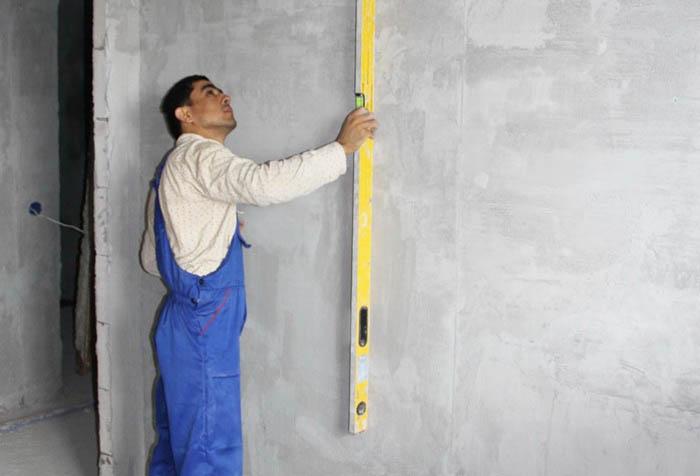 проверка стены по уровню