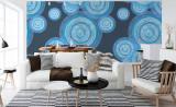 Уютная гостиная в синих тонах