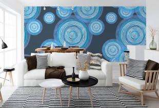 Создаем оригинальный дизайн с помощью синих обоев