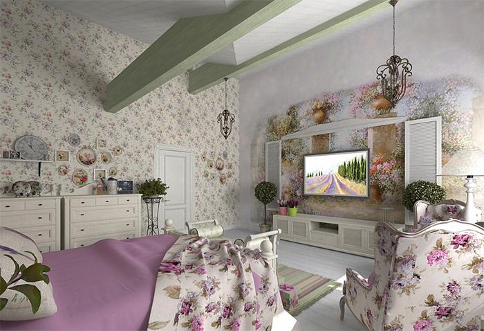 Дизайн спальни в прованском стиле