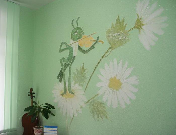 Кузнечик со скрипкой для декорирования детской комнаты