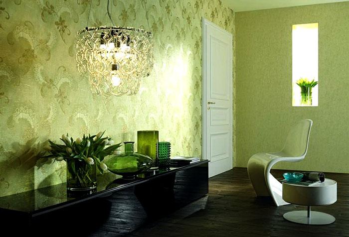 Дизайн интерьера в зеленых тонах