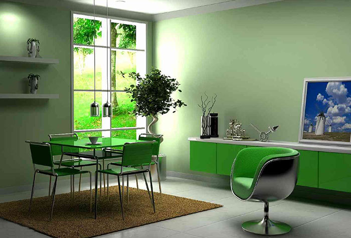 Кухня в зеленом цвете