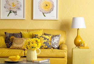 Как правильно подобрать обои желтого цвета?