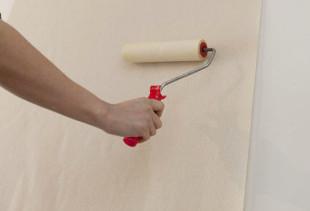 Как правильно поклеить обои на стену, покрытую побелкой?
