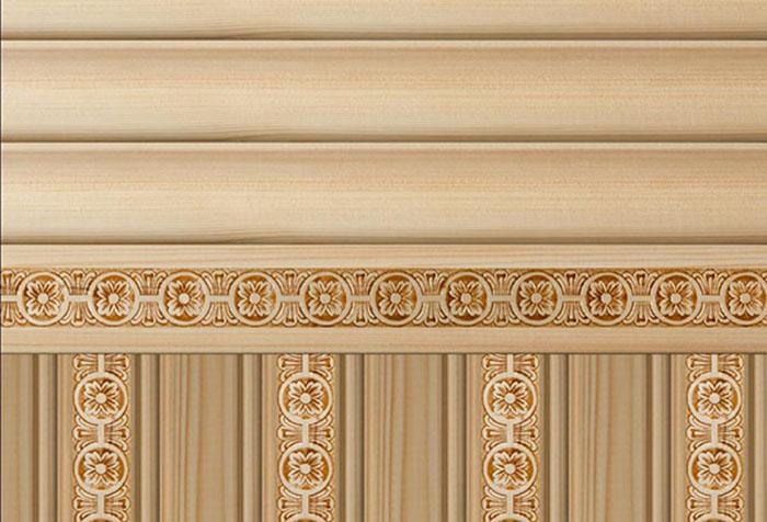 Орнамент на деревянных обоях