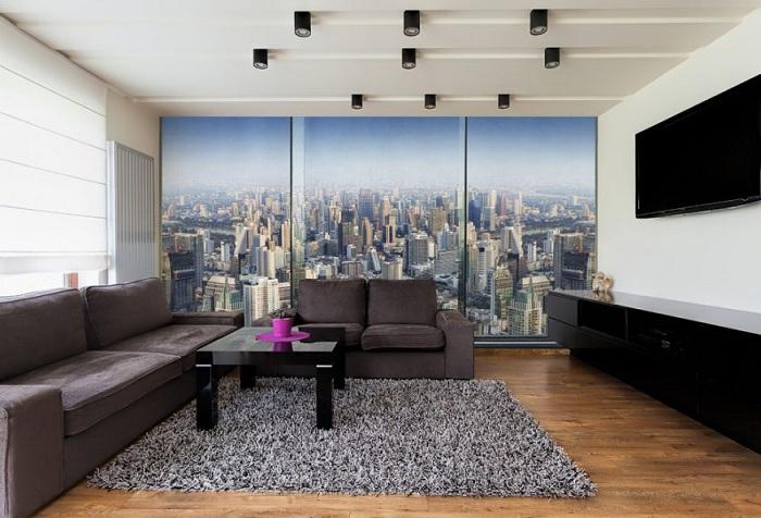 фотообои с видом на городской пейзаж