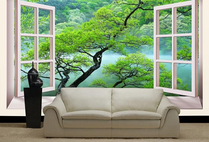 фотообои природа фальш окно